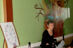 ANXIETY WORKSHOP AT YOGA WELL 03.19.11 wonderful murals and Fear - Love - Life explanation
